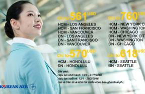 Korean Air tung chương trình khuyến mãi đến Mỹ và Canada